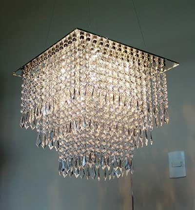 40 Lustres de Cristal para Sala Quarto Casa Apartamento