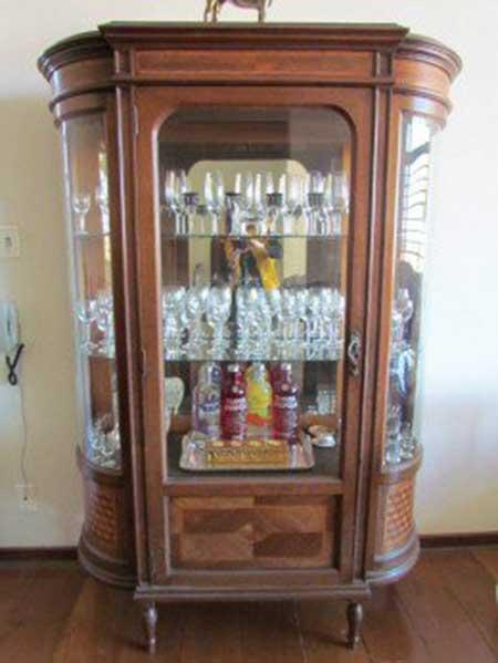 50 Cristaleiras Antigas Pequenas Grandes de Madeira