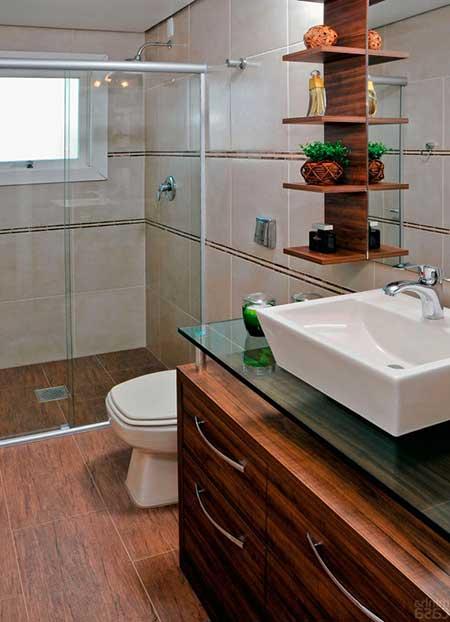 Piso para Banheiro na Reforma e Decorao Fotos e Modelos