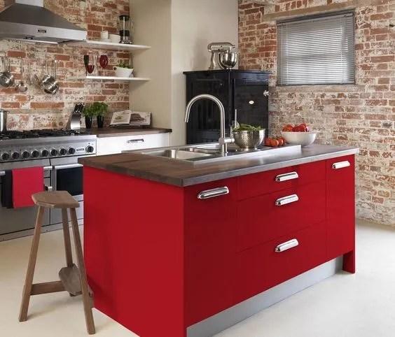 Diseos de cocinas rojas 2019  BlogDecoracionescom