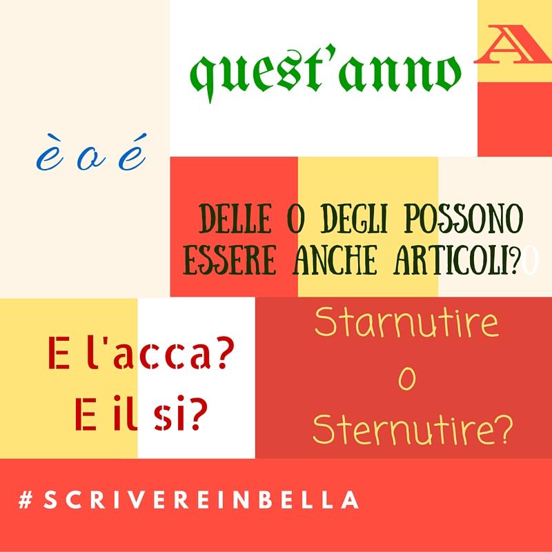 Le mie fonti per #ScrivereinBella online: l'italiano