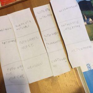 Ripetere la lezione con la tecnica dei mattoncini numerati