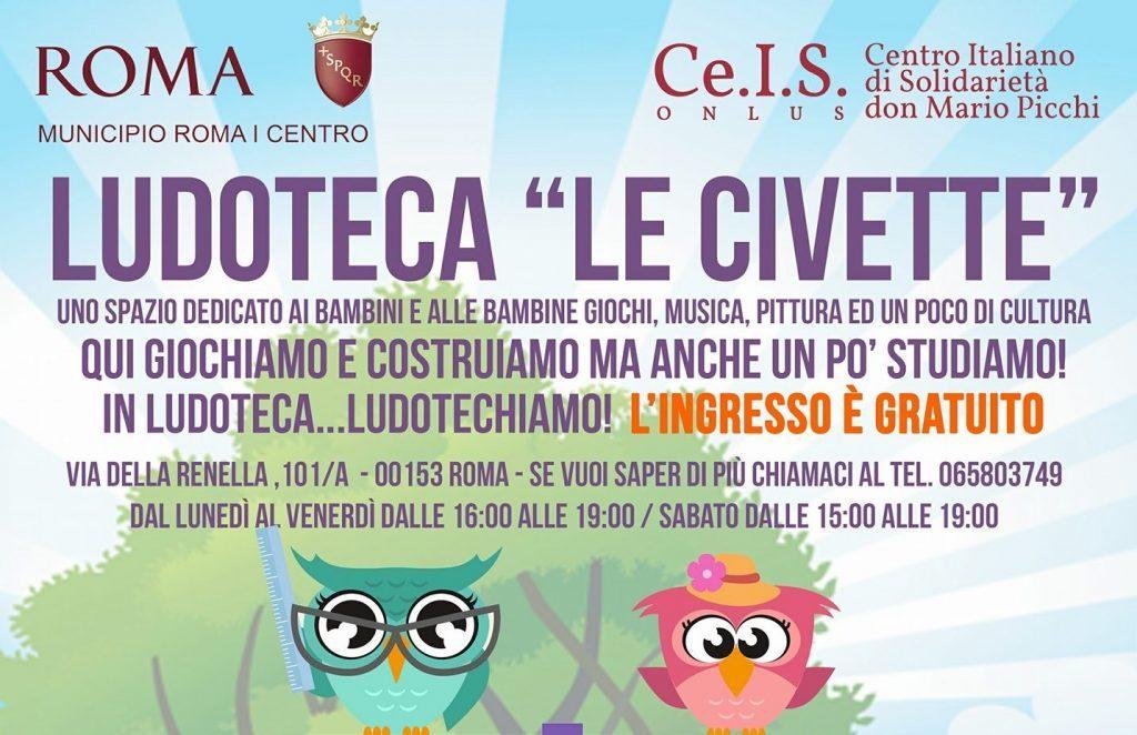 Apre la ludoteca Le Civette, uno spazio gratuito per bambini a Trastevere