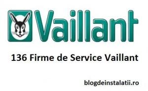 136 Firme Autorizate de Service Vaillant