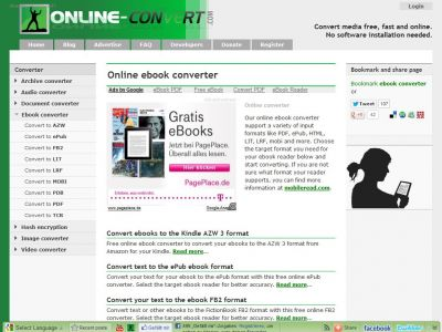 Ebook.online-convert, conversor eBooks