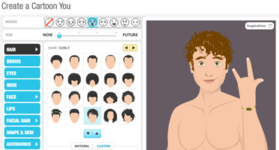 myWebFace, crea tu avatar en caricatura