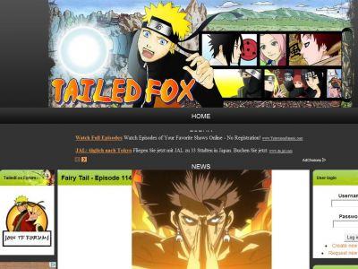 TailedFox, series anime para ver y descargar