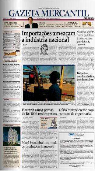La Gazeta Mercantil dejó hoy de aparecer, pero todavía hay esperanzas.