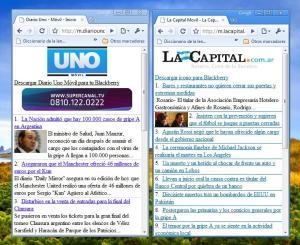 Los nuevos sitios móviles en el fondo de mi escritorio