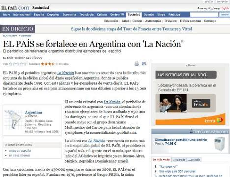El artículo en El País, un auto-chivo sin mucho sustento