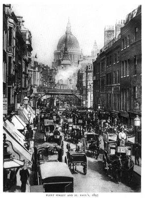 Así se veía Fleet Street años antes del Siglo XX