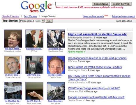 El sitio de noticias de Google ahora aparece como una alternativa genérica para el modelo de pago en Estados Unidos