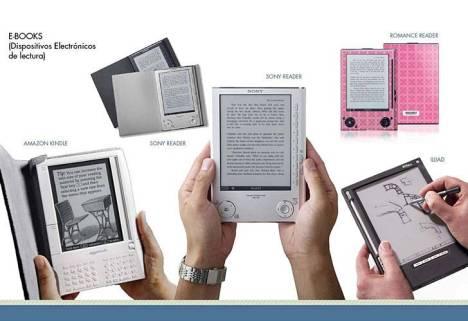 El Kindle de Amazon o el e-reader de Sony, todos ejemplos de la revolución digital
