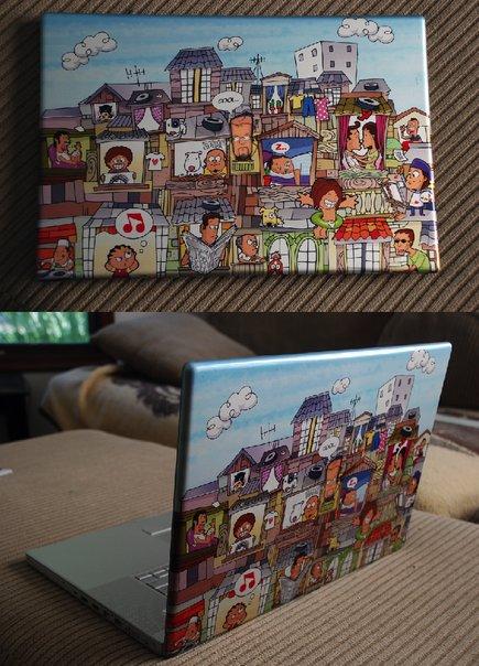 Así es la laptop de Karl Gude robada en Buenos Aires
