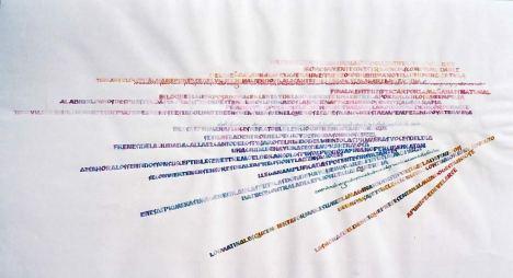 La tipografía, el dibujo de la letra, porta al sentido y al significado y fue un tema predilecto en el congreso de la SND en Buenos Aires