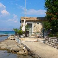 Small house along the sea
