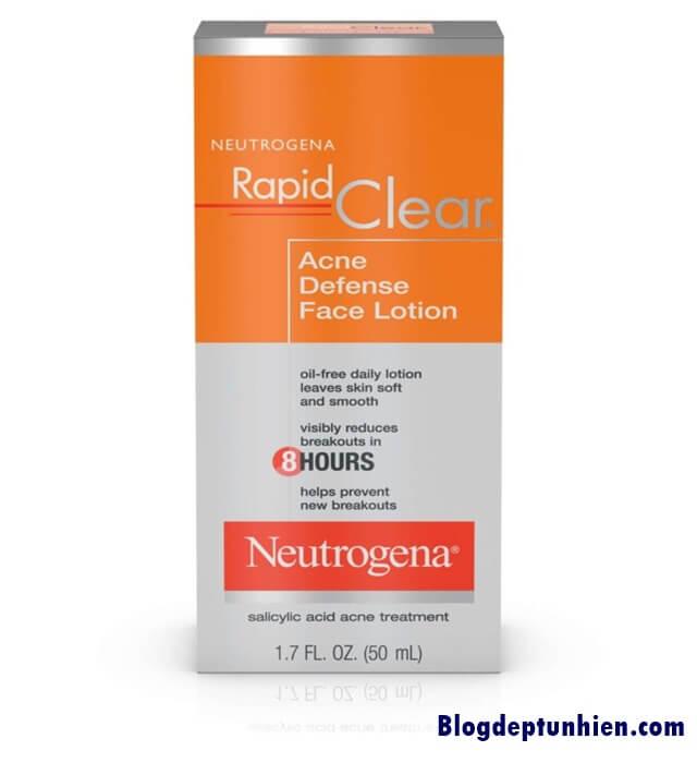 Neutrogena bha cũng là mỹ phẩm thường được sử dụng để trị mụn