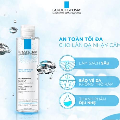 Nước tẩy trang La Roche-Posay Eau Micellar Water Ultra for Sensitive Skin dành cho da nhạy cảm