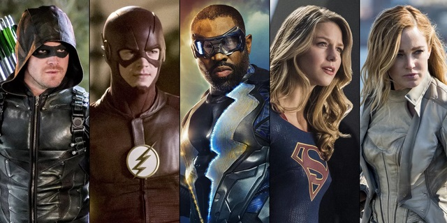 La series de DC en la cadena The CW: Arrow, The Flash, Black Lightning, Legends of Tomorrow y Supergirl