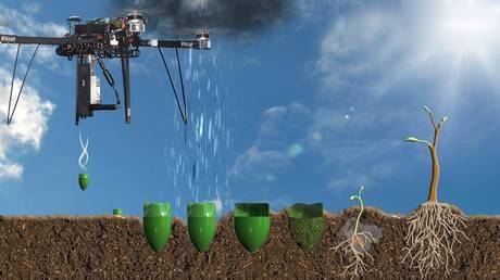 Un miliard de copaci plantați pe an cu drone