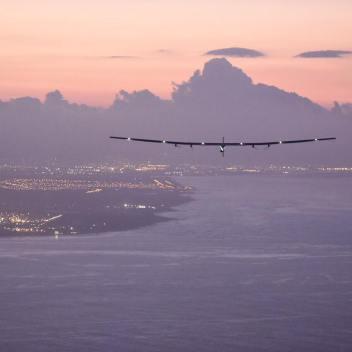 La aterizarea în Hawaii