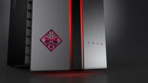 OMEN by HP Desktop PC with Dragon Red LED_logo detail