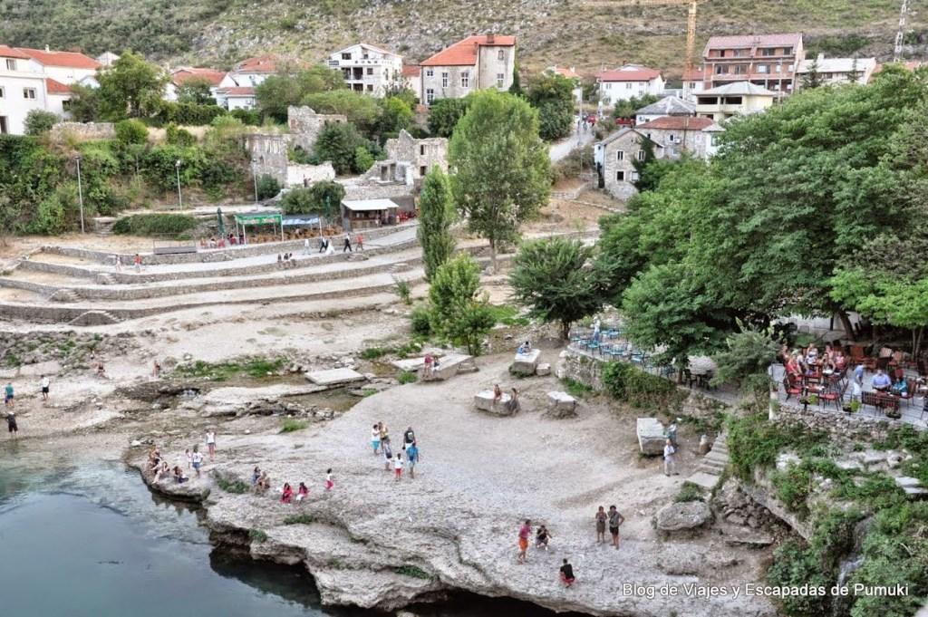 Vistas desde el Puente Viejo de Mostar