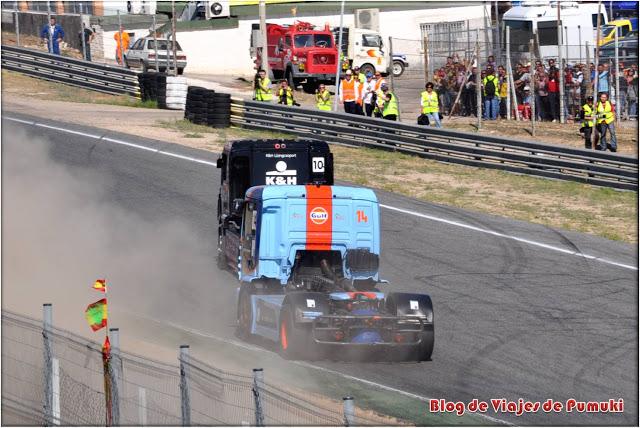 Los adelantamiento en el GP de camiones es uno de los momentos mas emocionantes de la carrera