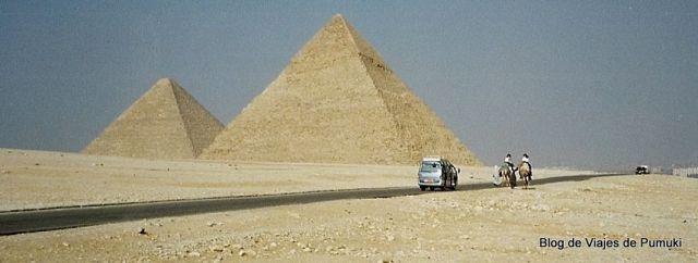 Las pirámides de Giza, cerca del Cairo son una excursión imprescindible en tu viaje a Egipto