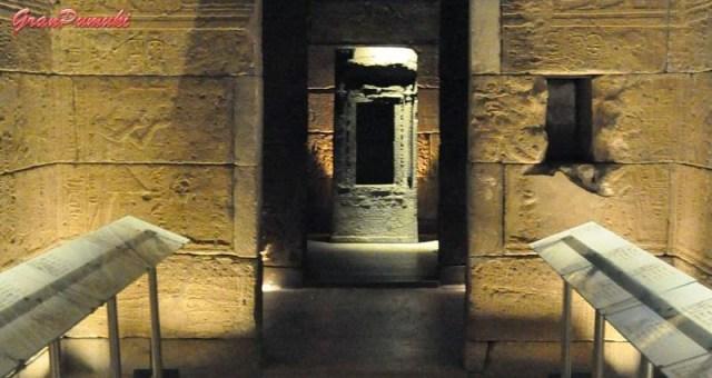 Naos de Ptolomeo XII en el Templo de Debod, en una cámara al fondo del templo