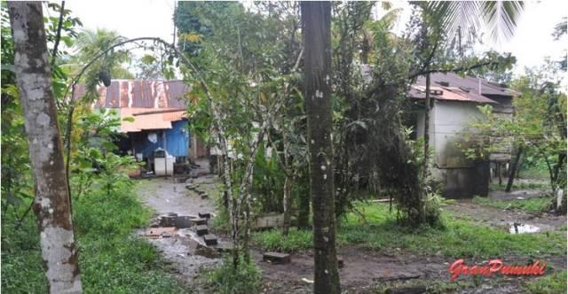 Infravivienda en Tortuguero cerca de la entrada al Parque Nacional. En Blog de Viajes de Pumuki, Costa Rica, Tortuguero