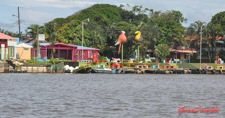 Tortuguero visto desde el canal