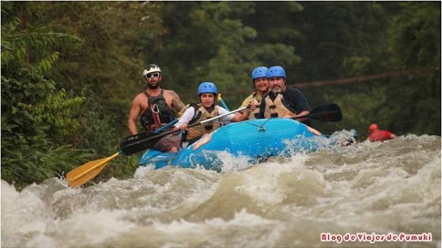 Rafting con niños en Costa Rica