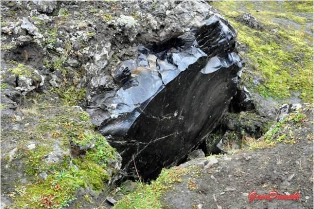 Piedras basálticas en el camino de Hella a Landmannalaugar
