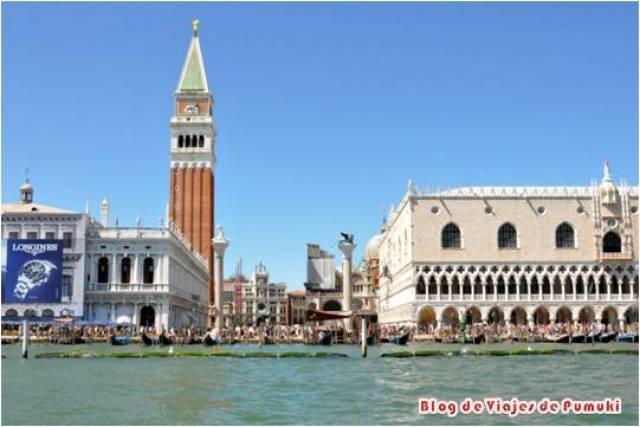 El Campanile es el Campanario de la Basílica de San Marcos en Venecia