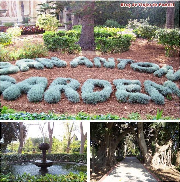 Los Jardines de San Antón en Malta rodean el Palacio de San Antón. Residencia oficial del presidente de Malta