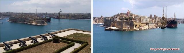 Vistas del puerto de la Valeta en Malta