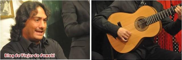 Cante y música de guitarra. Flamenco en las zambras del Sacromonte en Granada