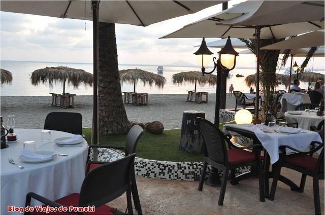 Restaurante a la Puesta de sol en la Manga del Mar Menor