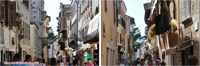 Las calles de Poreč invitan a un tranquilo paseo. Istria, Croacia