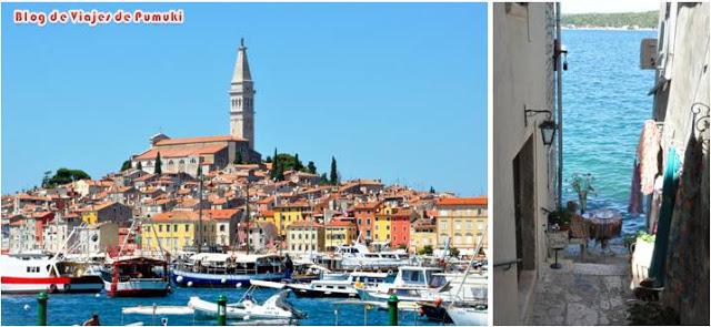 Rovinj en la península de Istria, Croacia en una ruta en coche descrita en blog viajes