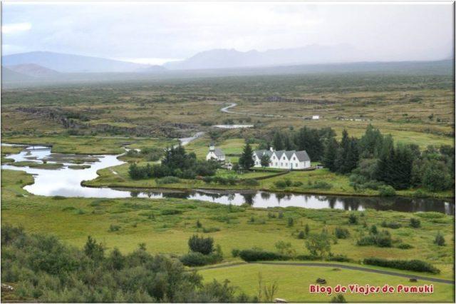 Llanura de Þingvellir en el Circulo Dorado, Islandia. Patrimonio de la Humanidad, UNESCO