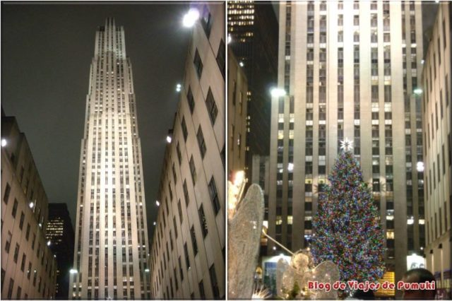 Patinar sobre hielo en el Rockefeller Center