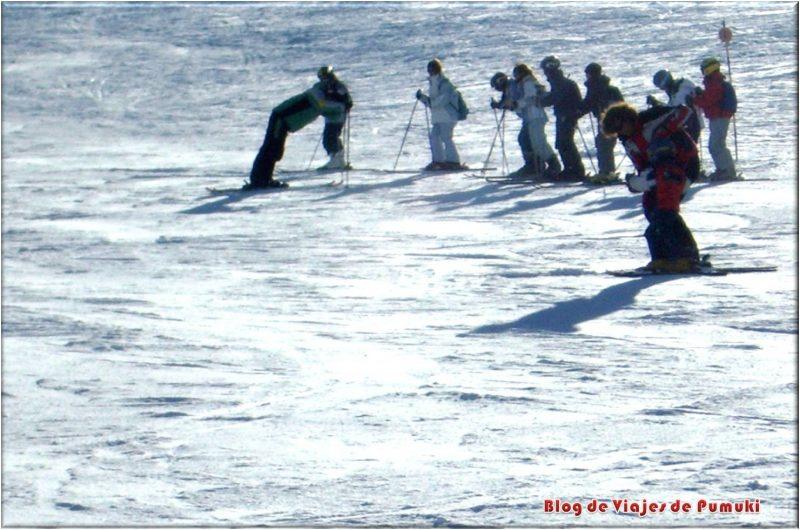 Clases de esqui para principiantes o novatos