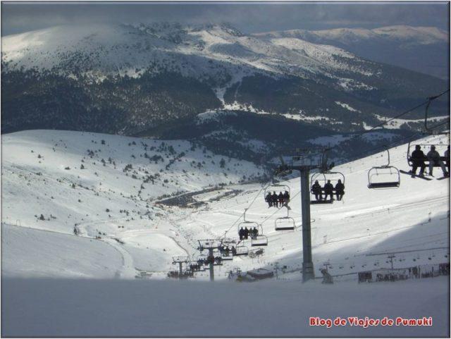 Un mala climatología no es aconsejable para esquiar por primera vez