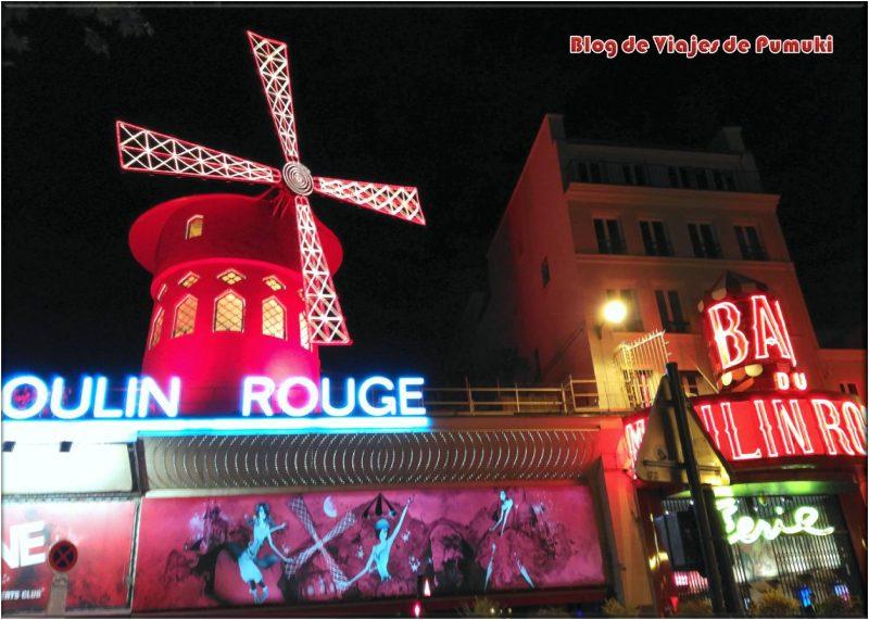 El Molino Rojo en Paris. Espectáculo de primer nivel