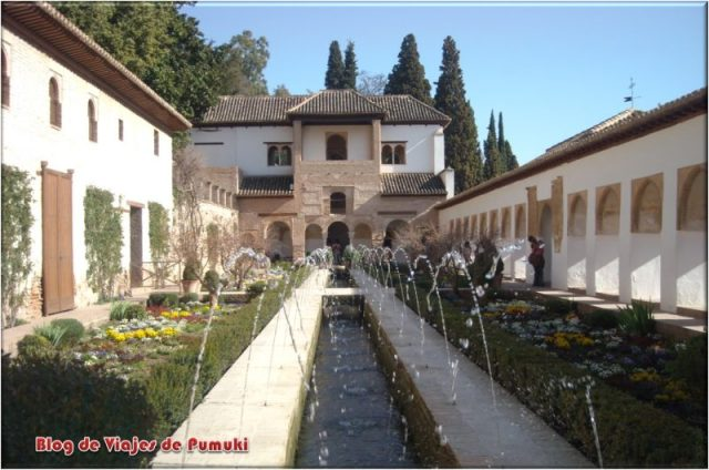 Generalife en la Alhambra de Granada