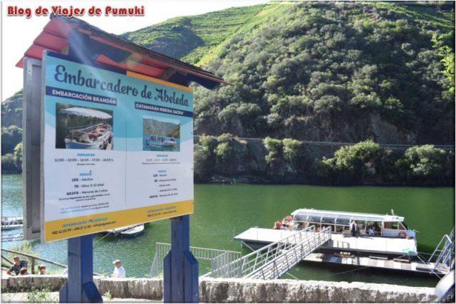 Recorrido en barco por el sil, en la Riveira Sacra, Ourense