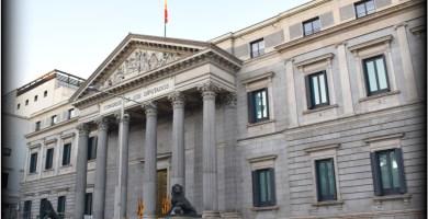Congreso de los Diputados en la Carrera de San Jerónimo de Madrid
