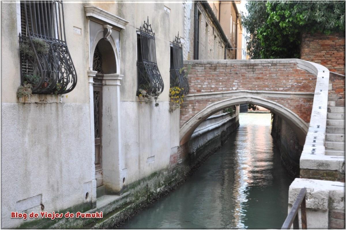 Rincones escondidos de Venecia. Puente en Dorsoduro